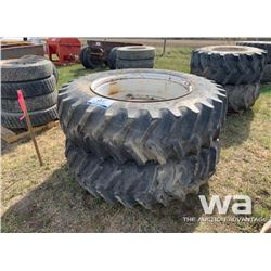 (2) FIRESTONE 20.8-42 TRACTOR TIRES & RIMS