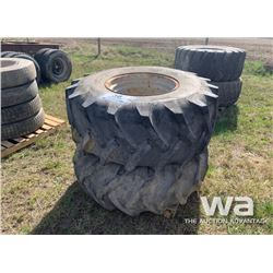 (2) ARMSTRONG 23.1-26 TRACTOR TIRES & RIMS