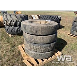 (4) BRIDGESTONE 11R24.5 TRUCK TIRES