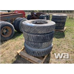 (4) GOODYEAR 11R24.5 TRUCK TIRES