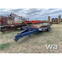 8 X 18 FT. T/A PINTLE HITCH TRAILER