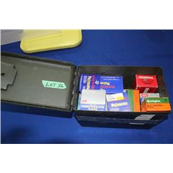 Military Ammo Box c/w : Lrg. Pistol Primers (approx. 3000); Small Rifle Primers (approx. 2000) & Sma