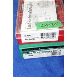 Lee Lead Hardness Testing Kit & a Primer Pocket Swager Tool - 2