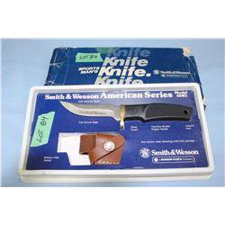 "S & W American Series Model 6085 Knife & Sheath w/4"" Blade"