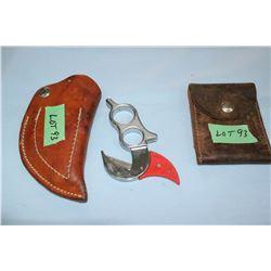 Box Cutter w/Sheath & a Leather Pouch