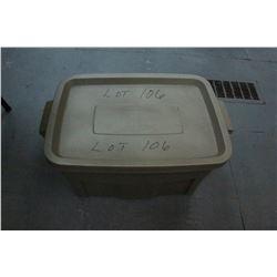 Rubbermaid Tote w/Reloading Equipment; Progressive Press; Lube Pads; Funnels; Scale; Auto Prime Kit;