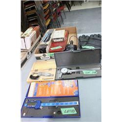 Flat w/Micrometer; Digital Caliper; Manual Caliper; 12 ga. Cleaning Kit; Deburring Tool; Gloves & a