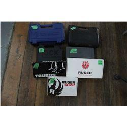 Box of Handgun Cases & Handgun Boxes (7 in total)