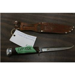 "Lamplough Sollengen Knife (Germany) w/5"" Blade and Sheath"