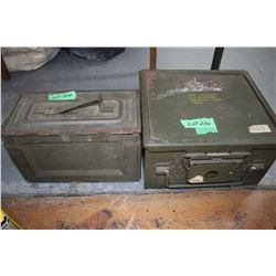 2 Military Ammo Boxes