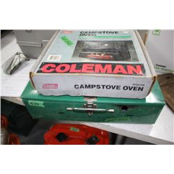 Coleman Camp Stove Oven & a Camp Stove