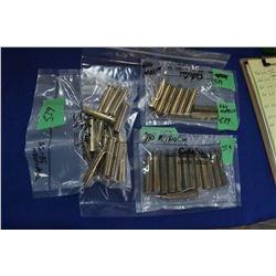 Bag of 20 Dominion 38-55 Brass; Bag of 8 - 444 Marlin Brass & Bag of 13 Kynoch 280 Brass