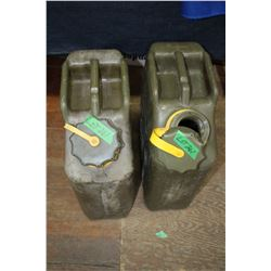 2 Plastic Military Jerry Cans