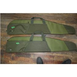 Two Gun Cases - Green - In Good Condition