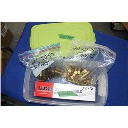 Lee 50-70 Bullet Mold; (40) New 50-70 Brass; (21) 50-90 Brass.  Unprimed