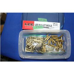Lee 308, 30 cal. Bullet Mold; 358 Win Brass Plus (100) 308 Brass Reformed to 358 - Load Ready