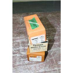 Bullet Molds:  Lyman 45 cal.; Lyman 38 cal.; & Lyman .314 diameter