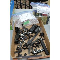 Bag of Peep Sights; Misc. Scope Mounts & a Bag of Precision Rear Sight Inserts