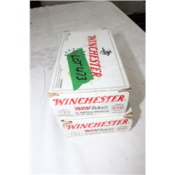 2 Boxes of Winchester 180 gr., 44 cal. BEB
