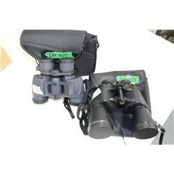2 prs of Binoculars - Nikon 7 - 15 x 35 & Optex Wide Angle 10 x 50