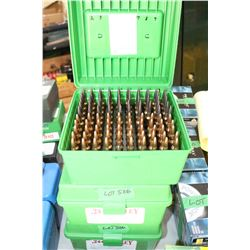 300 Reloaded .244 Ackley Live Rnds w/Load Information in the 3 Caseguard Cases