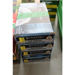 4 Boxes of Factory 338 Federal Live Rnds, 200 gr, Unicor, Soft Point