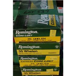 4 Boxes of Factory 35 Whelen Remington Core Lokt, 200 gr., PSP