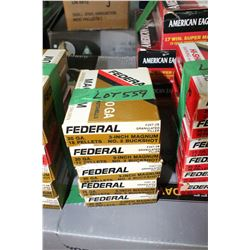 "5 Boxes of 5 - Factory 20 ga., 3"" Magnum Federal #2 Buckshot"