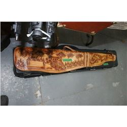1 Carved Leather Gun Case & 1 Hard Gun Case