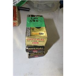 3 Boxes of Imperial 22 Long Rifle, High Velocity, Factory Ammo