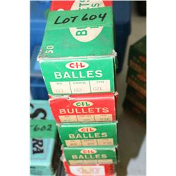 Approx. 160 - .311 Diameter, 180 gr., CPE, 308 PSP & KKSP CIL Bullets