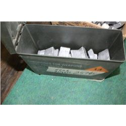 25 pounds of Lead Ingots - In an Ammo Carry Case