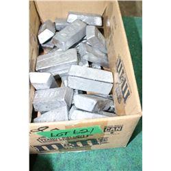 25 pounds of Lead Ingots