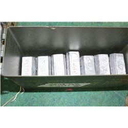 25 pounds of Lead Ingots in an Ammo Carry Case