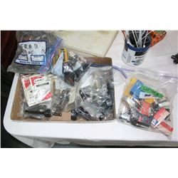 Flat w/Anschutz Trigger Assembly; Case Holders; Gun Parts & a Grab Bag of Misc.