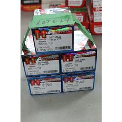 5 Boxes of 25 Count - Factory 357 Mag, 125 gr., XTP