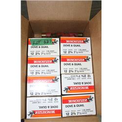 8 Boxes of Winchester Dove & Quail, 12 ga., 2 3/4, # 7 1/2 Shot