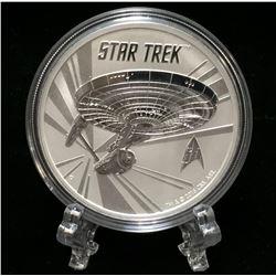2016 Tuvalu 1oz Star Trek: Enterprise Silver BU Coin