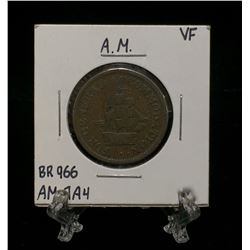 A.M. Half Penny Token For General Accommodation BR 966 AM-1A4 (VF)