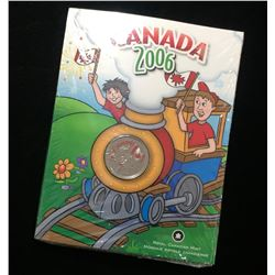 2006 Canada 25-Cents Canada Day Coloured Coin