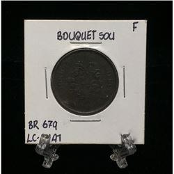 Bouquet Sou Montreal Pre-Confederation Token BR679 LC-24A1 (F)