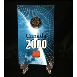 2000 Canada Pride Millennium Silver Lapel Pin
