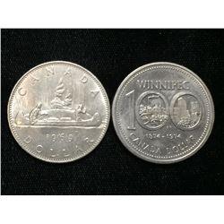 1969-1974 Canada $1 Commemorative Dollars
