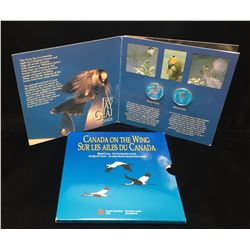 1995 Canada 50-Cents Gray Jay & White-Tailed Ptarmigan Silver 2-Coin Set
