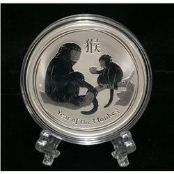 2016 Australia 1oz Year of the Monkey $1 Silver BU Coin
