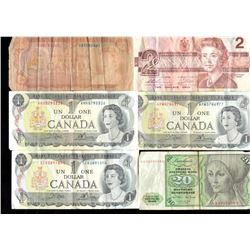 Lot of World Paper Currency - Canada, Britain, Netherlands, more (14pcs)