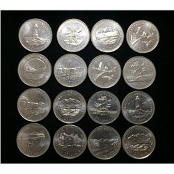 Lot of 1992 Canada 25-Cents 125th Commemorative Coins