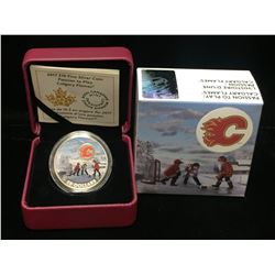 2017 Canada $10 Calgary Flames: Passion to Play Coloured Proof Silver Coin