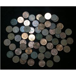 Mixed Lot of 1-Cent Canada, US, Copper & Modern Pennies