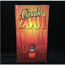 2001 25-Cents Canada Day Coloured Coin